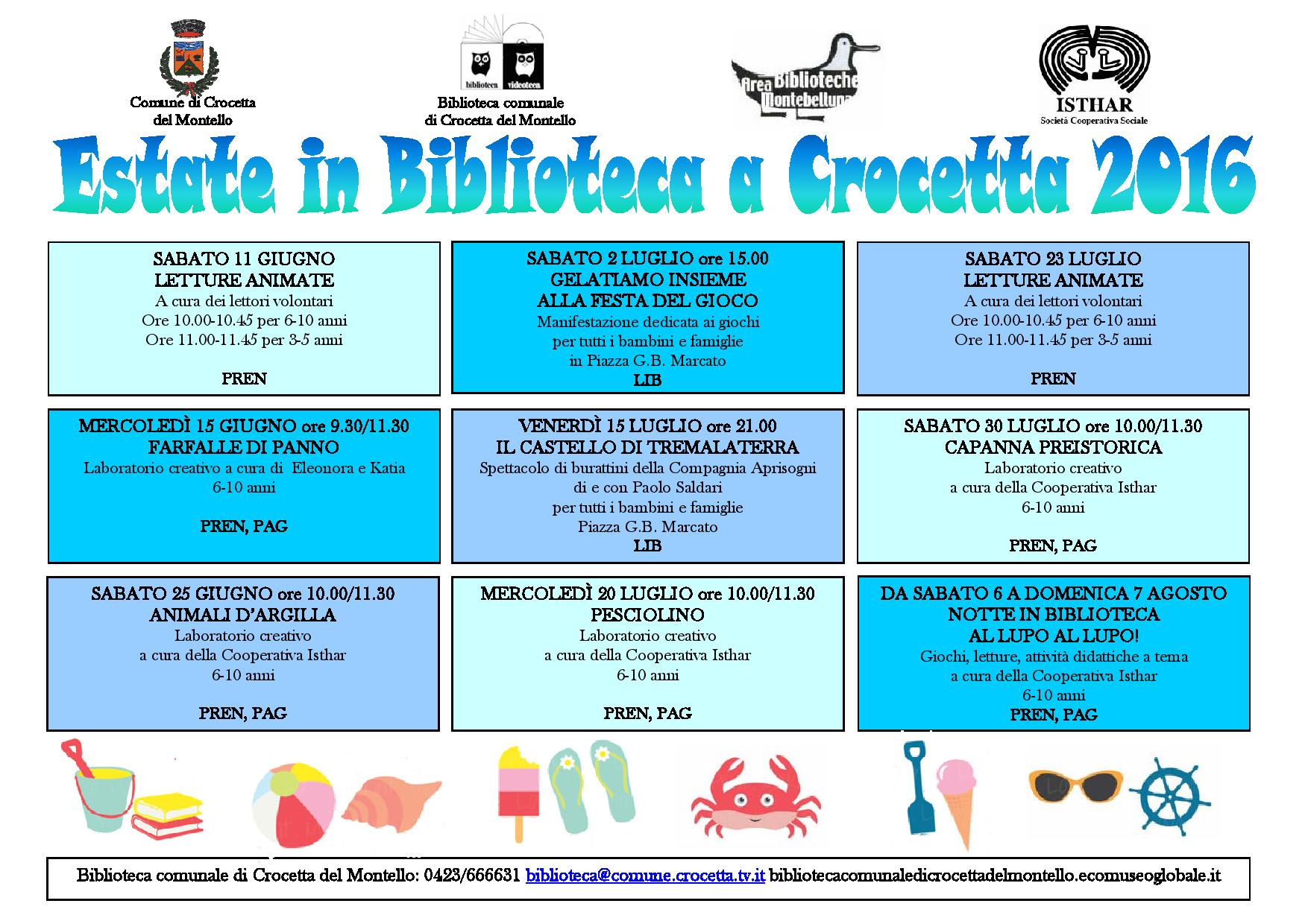 ESTATE IN BIBLIOTECA CROCETTA 2016